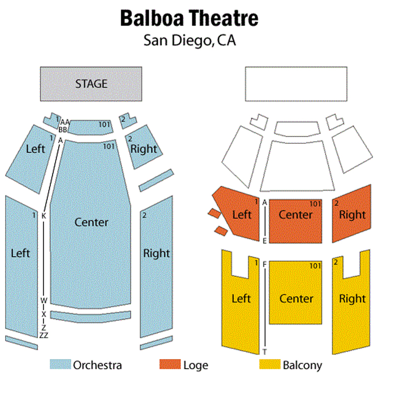 Balboa Theatre Seating Chart
