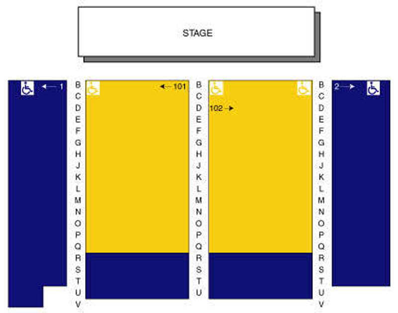 Casa del Prado Theatre Seating Chart
