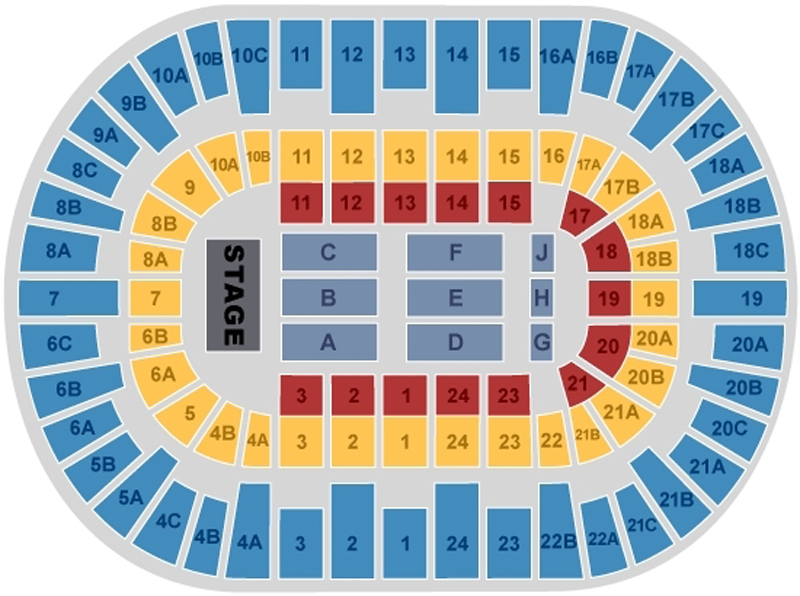 Ringling Circue Seating Chart