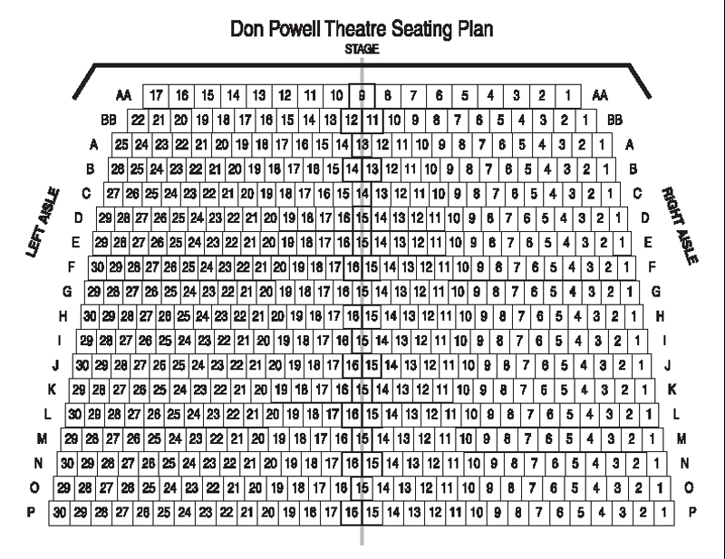 Don Powell Theatre Seating Chart