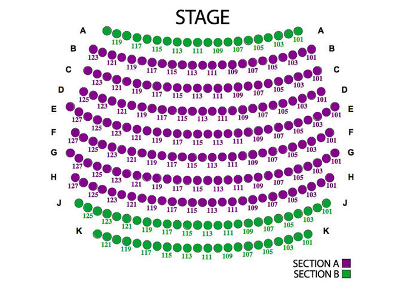 Horton Grand Theatre A and B seat