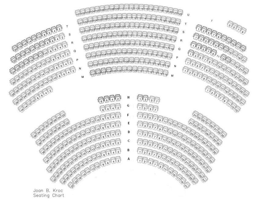 Joan B. Kroc Theatre Seating Chart