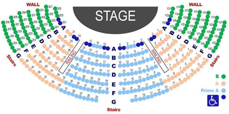 Lamb's Players Theatre Seating Chart