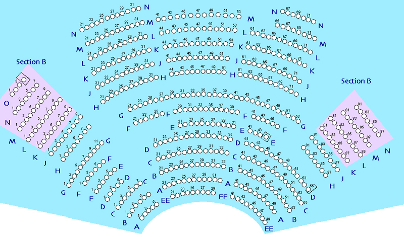 Lyceum Main Stage Seating Chart