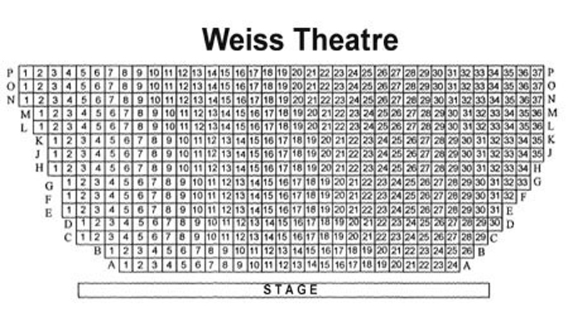 Mandell Weiss Theatre Seating Chart